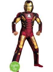 Boys Light Up Mark VII Iron Man Muscle Costume - The Avengers