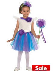 Toddler Girls Lavender Daisy Fairy Princess Costume