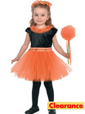 Toddler Girls Orange Madden Fairy Princess Costume