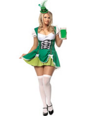 Adult Lucky Irish Lass Costume Plus Size