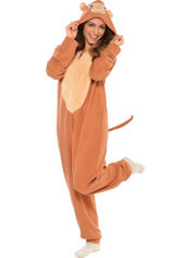 Adult Monkey One Piece Pajama