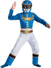Boys Classic Blue Ranger Costume - Power Rangers Megaforce