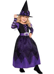 Girls Purple Witch Costume