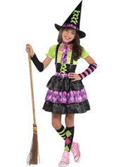 Girls Spellbound Witch Costume