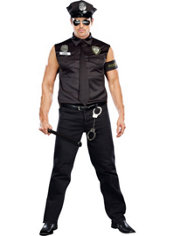 Adult Officer Dirty Cop Costume Plus Size