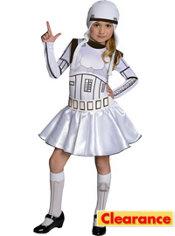 Girls Stormtrooper Costume - Star Wars
