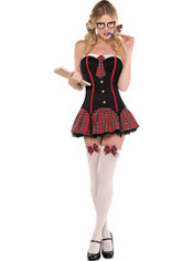 Adult Nerdy & Flirty Schoolgirl Costume