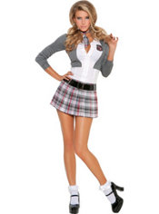 Adult Queen of Detention School Girl Costume