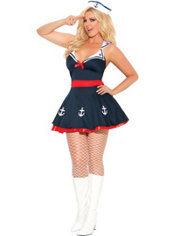 Adult Sailors Delight Costume Plus Size