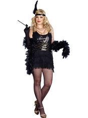 Adult Ain't Misbehavin' Flapper Costume Plus Size