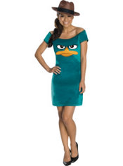 Teen Girls Agent P Costume - Phineas and Ferb