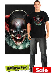 Clown Psychopath Animated T-Shirt
