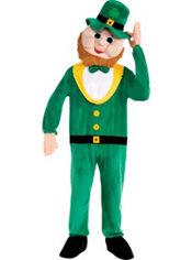 Adult Mascot Leprechaun Jumpsuit Costume