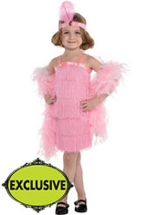 Girls Pink Flapper Costume