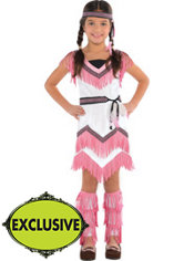 Girls Spirited Native American Costume