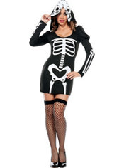 Adult Bone-ified Babe Skeleton Costume