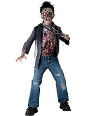 Boys Unchained Horror Skeleton Costume