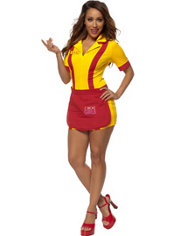 Adult 2 Broke Girls Costume