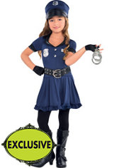Toddler Girls Cop Costume