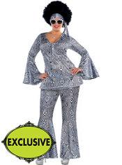 Adult Dancing Queen Disco Costume Plus Size