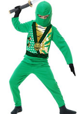 Toddler Boys Green Ninja Avenger Costume