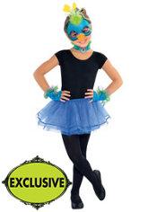 Girls Shimmer Peacock Costume