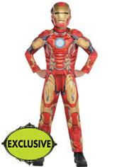 Boys Iron Man Muscle Costume - Avengers: Age of Ultron