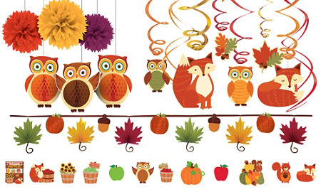 Fall classroom decorations party city canada for Autumn classroom decoration