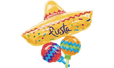 Fiesta Mexican Hat Balloon 40in