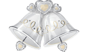 Foil Platinum Proposal Wedding Balloon 35in