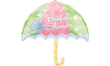 Foil Umbrella Bridal Shower Balloon 30in