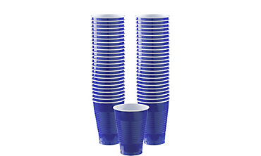 Royal Blue Plastic Cups 12oz 50ct