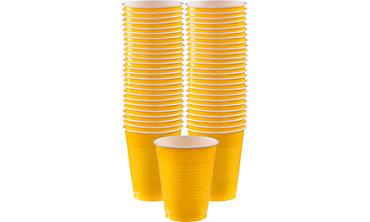 Sunshine Yellow Plastic Cups 16oz 50ct