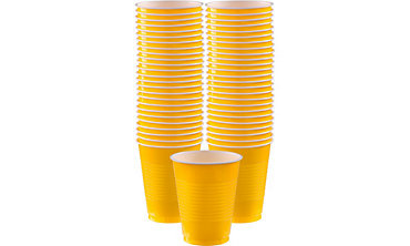 BOGO Sunshine Yellow Plastic Cups 50ct