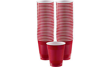 Red Plastic Cups 16oz 50ct