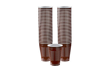 Chocolate Brown Plastic Cups 12oz 50ct