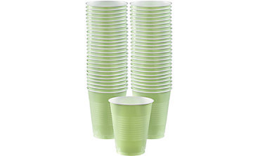 Leaf Green Plastic Cups 16oz 50ct