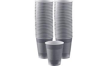 BOGO Silver Plastic Cups 16oz 50ct