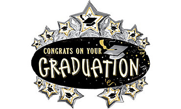 Foil Star Marquee Graduation Balloon 31in