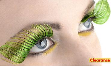 Curled Green False Eyelashes