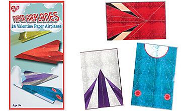 Paper Planes Valentine Exchange Cards 24ct