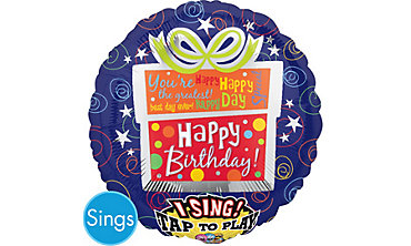 Happy Birthday Balloon - Singing Present
