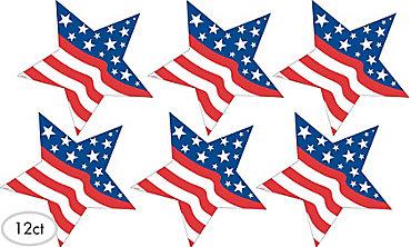 Patriotic Star Cutouts 12ct