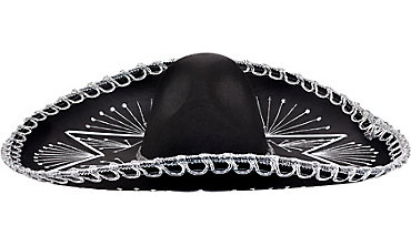 Silver Sequin Black Sombrero