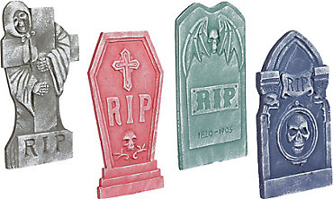 Tombstone Decoration Set 4ct
