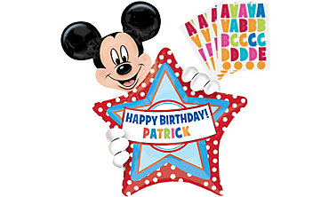 Foil Personalized Mickey Mouse Balloon 30in
