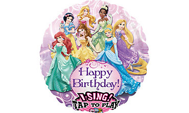 Foil Disney Princess Singing Balloon 28in