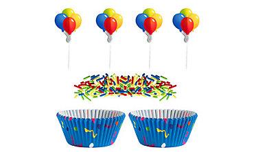 Colorful Balloon Cupcake Decorating Kit