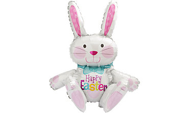 Foil Sitting Easter Bunny Balloon