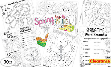 Spring Activity Sheets 30ct